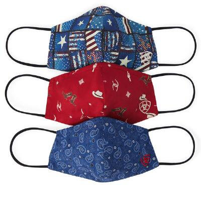 Ariat Cotton Fashion Print Face Mask - Americana Assortment