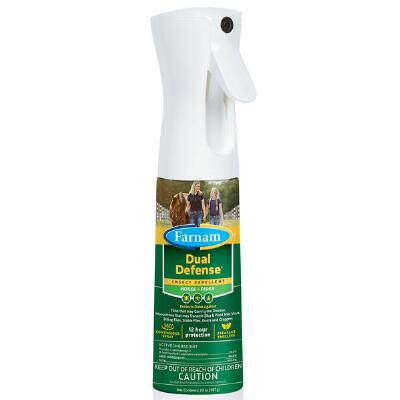 Farnam Dual Defense Insect Repellent 12 Hour Protection, 10 oz Non-Aerosol