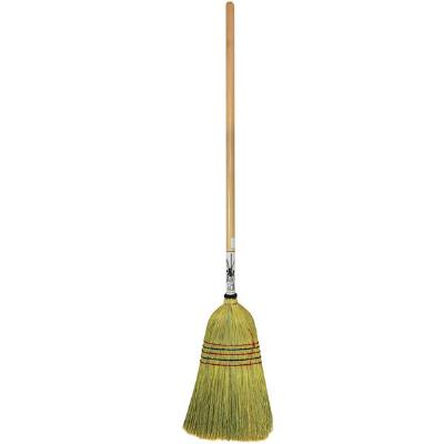 Heavy Duty Corn Broom With Wooden Handle