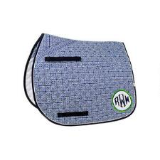 Lettia Preppy Greek Key All Purpose Saddle Pad - TB