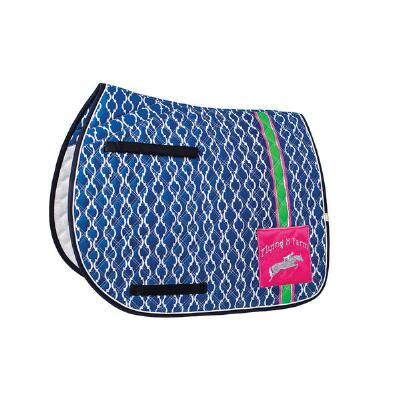 Lettia Preppy Bold Stripe All Purpose Saddle Pad