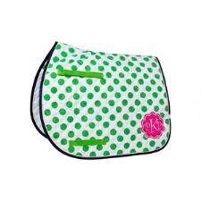 Lettia Preppy Green Dot All Purpose Saddle Pad - TB