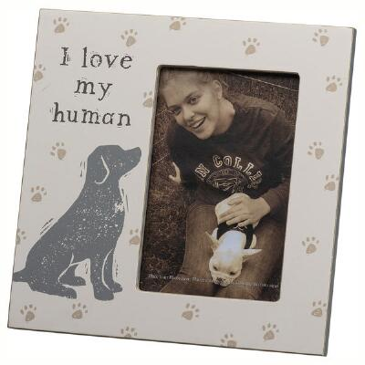 Primitives by Kathy Love my Human 4x6 Picture Frame