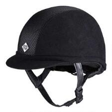 Charles Owen AYR8 Plus Helmet in Black Microsuede - TB