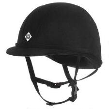 Charles Owen JR8 Helmet in Black Microsuede - TB