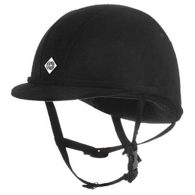 Charles Owen JR8 Helmet in Black Microsuede