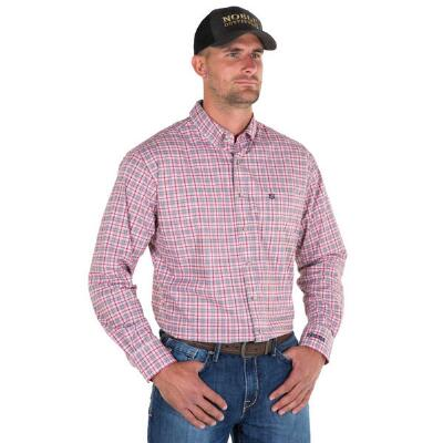 Noble Outfitters Red Plaid Generations Mens Western Shirt