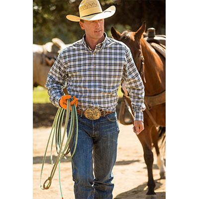 Generation Button Down Mens Western Shirt