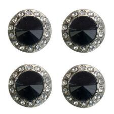 Tough 1 Black Crystal Magnetic Number Holders - TB
