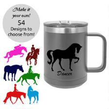 Insulated 15oz Travel Coffee Mug with Custom Decal - TB