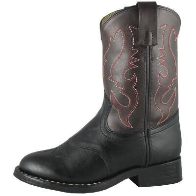 Diego Roper Childs Western Boot Black and Brown