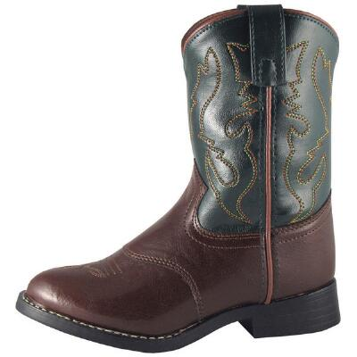 Diego Ropers Youth Western Boot Brown And Green