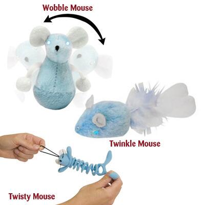 Play N Squeak Twinkle Mouse Night Time Cat Toy