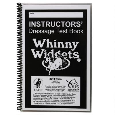 Whinny Widget 2019 Dressage Instructors Test Book