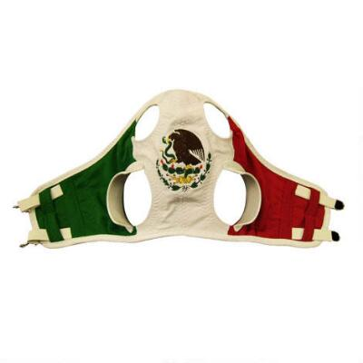 Knit Hood with Blinker Mexican Flag Embroidered Logo