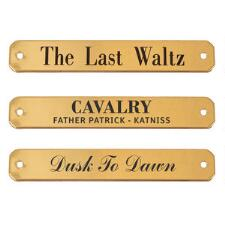 Engraved Nameplate for Halters .75 Inch Brass - TB