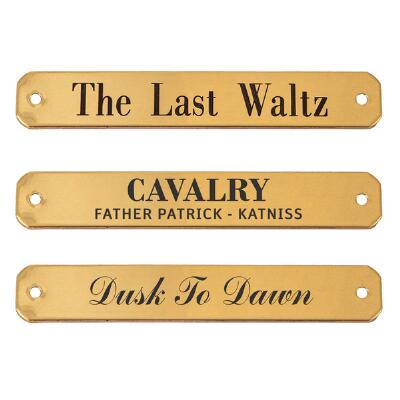 Engraved Nameplate for Halters .75 Inch Brass