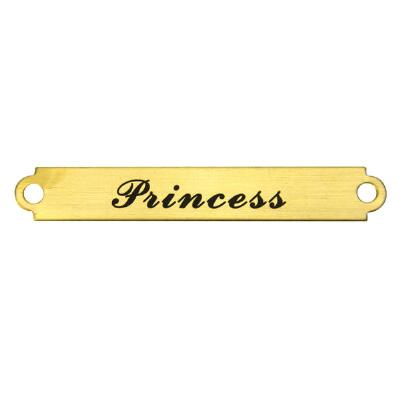 Engraved Nameplate Small Single Line up to 12 Letters
