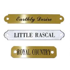 Engraved Nameplate for Saddles - TB