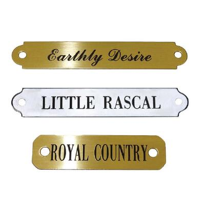 Engraved Nameplate for Saddles Up to Two Lines of Text