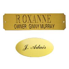 Engraved Stall Plaque Brass - TB