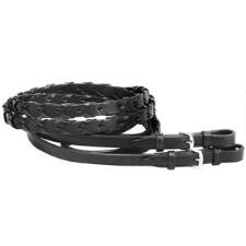 Tory Large Horse Laced Reins with Buckle End - TB