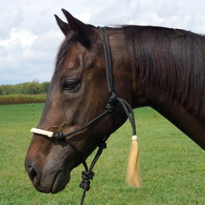 Rope Halter Knitted Cord With Horse Hair