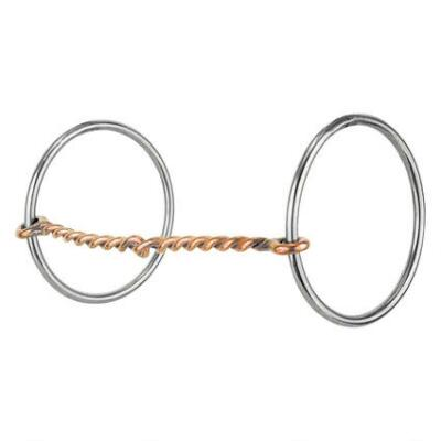 Reinsman Loose Ring Snaffle Copper Twisted Wire Light Rings
