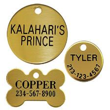 Dog Tag Brass Up To 3 Lines Of Text - TB