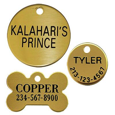 Dog Tag Brass Up To 3 Lines Of Text
