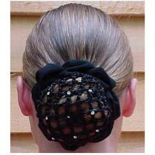 Hair Net Scrunchie With Rhinestones