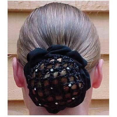 Ladies Hair Net Scrunchie With Rhinestones