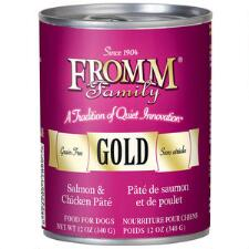 Fromm Gold Salmon and Chicken Pate Dog Food Can 12.2 oz - TB