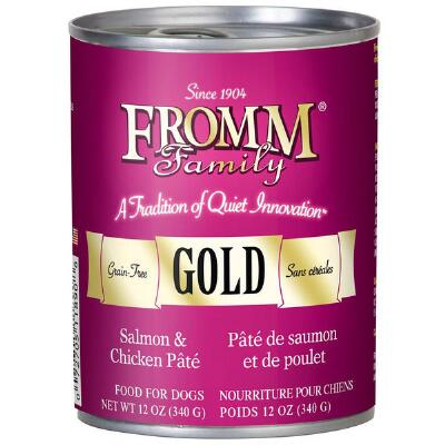Fromm Gold Salmon and Chicken Pate Dog Food Can 12.2 oz