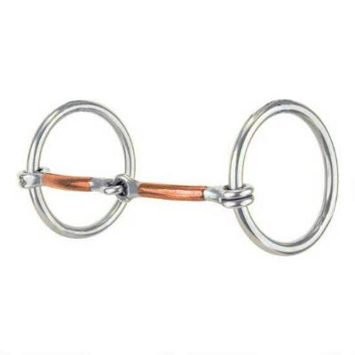 Reinsman Loose Ring Snaffle Heavy Rings With Copper Mouth