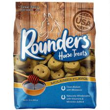 Blue Seal Rounders Molasses Horse Treats 30 oz - TB