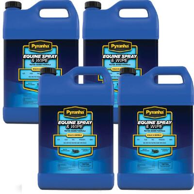 Pyranha Equine Spray and Wipe Gal Case Free Shipping