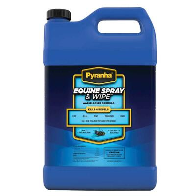 Pyranha Equine Spray & Wipe Insect Repellent Gallon