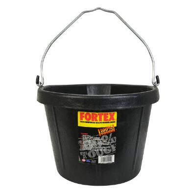 Corner Bucket Black Rubber