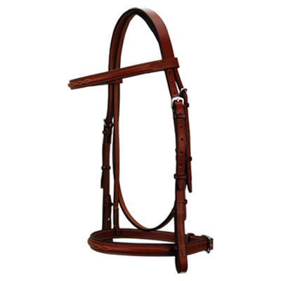 Edgewood Fancy Stitched English Bridle w Padded Crown