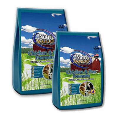 NutriSource Grain Free Chicken and Pea Formula 15 lb