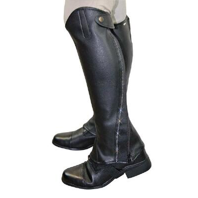 Half Chaps Zip With Crystal Accents