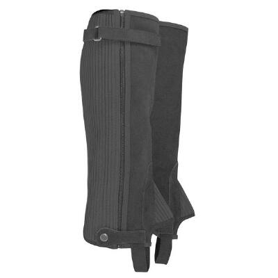 Half Chaps Suede With Zipper Closure
