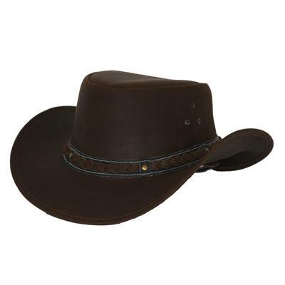 Outback Trading Wagga Wagga Leather Hat