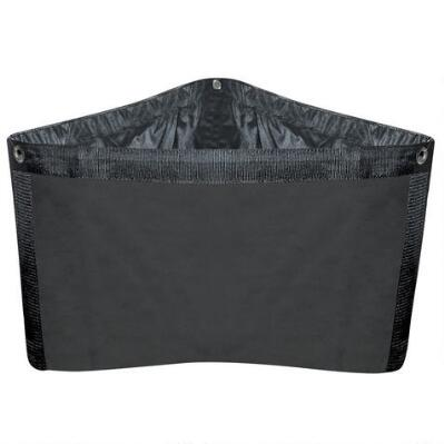 Corner Feed Bag Black Canvas