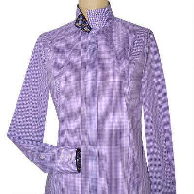 Essex Classics Isabel Violet Papillon Gingham Ladies Show Shirt