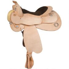 Circle Y Roughout Trainer Western Saddle - TB