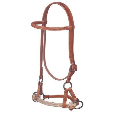 Double Rope Noseband Side Pull Training Headstall
