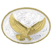 Montana Silversmiths Soaring Eagle Engraved Belt Buckle - TB