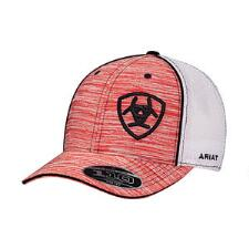 Ariat Red Heather Black Logo Baseball Cap - TB